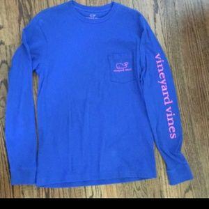 Vineyard vines blue xs shirt long sleeve